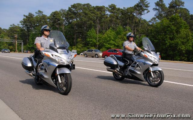 South Carolina State Troopers ride too.